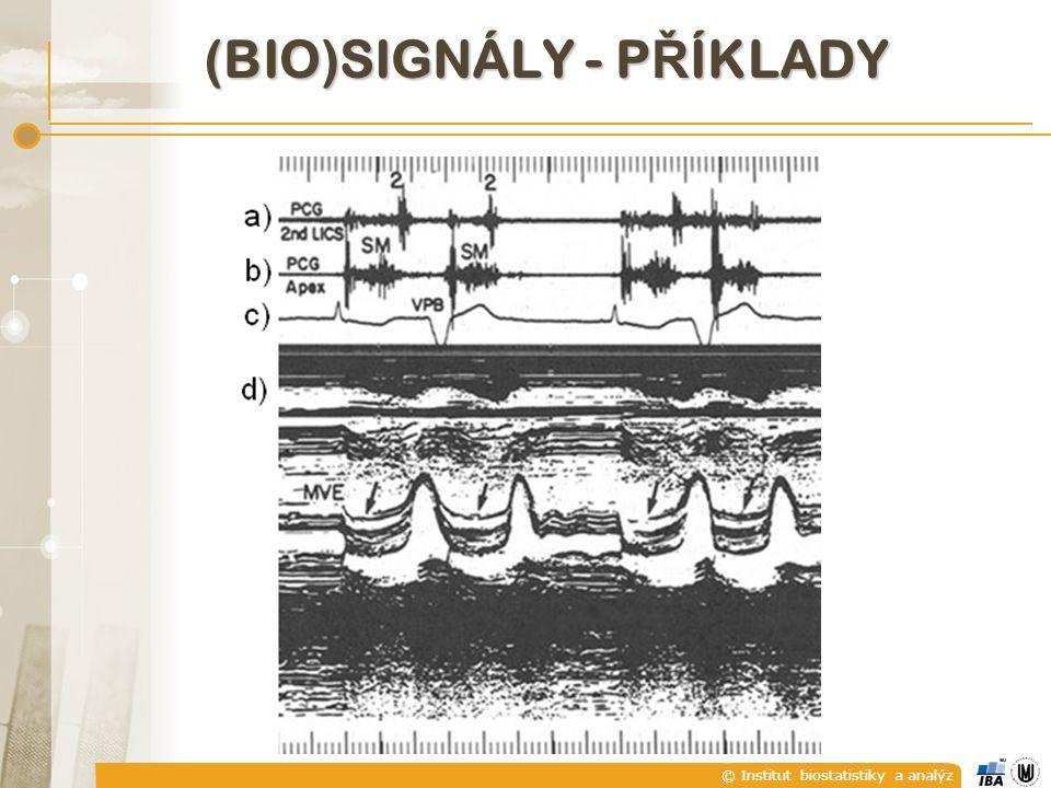 © Institut biostatistiky a analýz B) REÁLNÉ A KOMPLEXNÍ SIGNÁLY  Reálný signál je takový signál, který nabývá reálných hodnot.