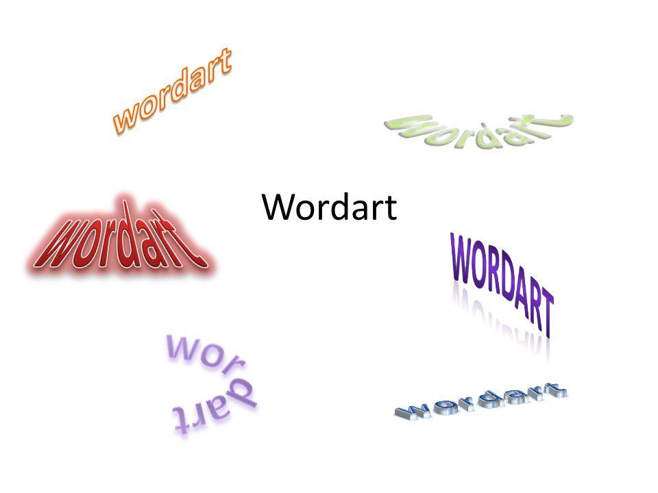 Co je to wordart? Vloží do textu, dokumentu zdobený text