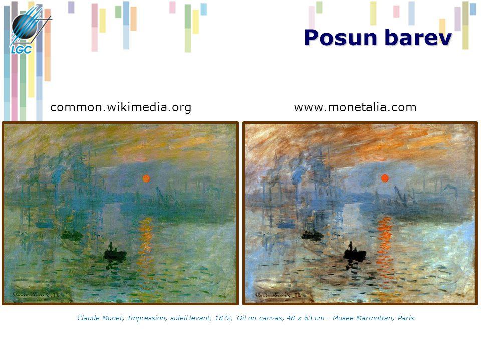 Posun barev Claude Monet, Impression, soleil levant, 1872, Oil on canvas, 48 x 63 cm - Musee Marmottan, Paris common.wikimedia.orgwww.monetalia.com