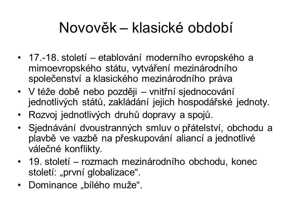 Novověk – klasické období 17.-18.
