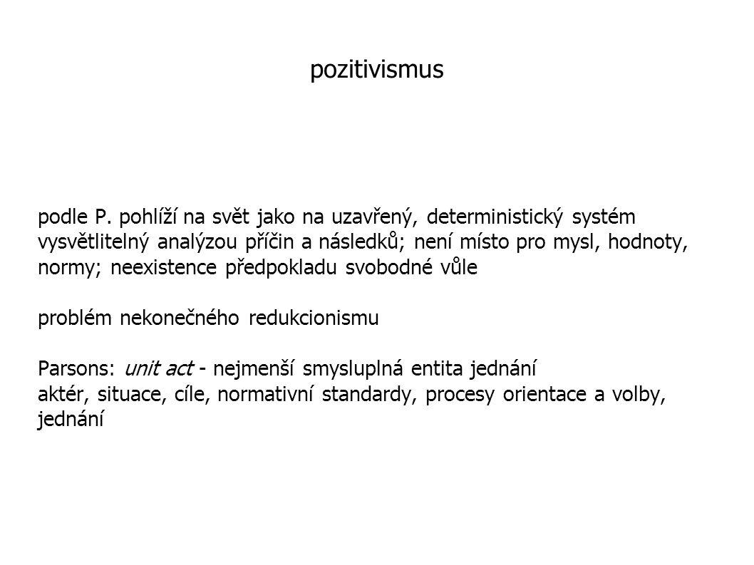 pozitivismus podle P.