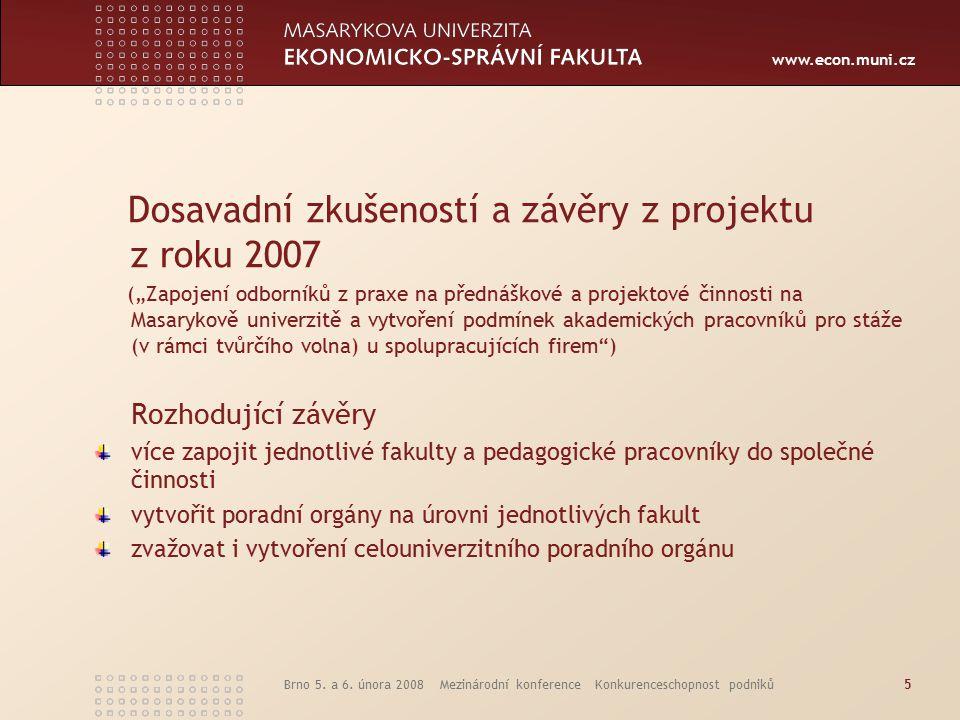 www.econ.muni.cz Brno 5.a 6.