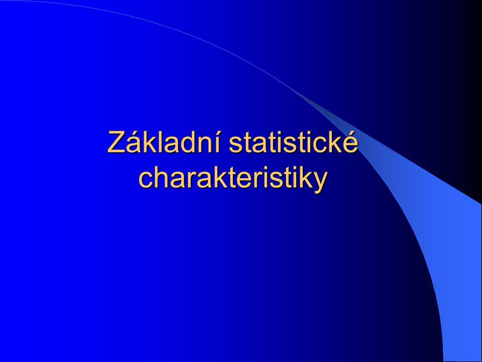 Základní statistické charakteristiky