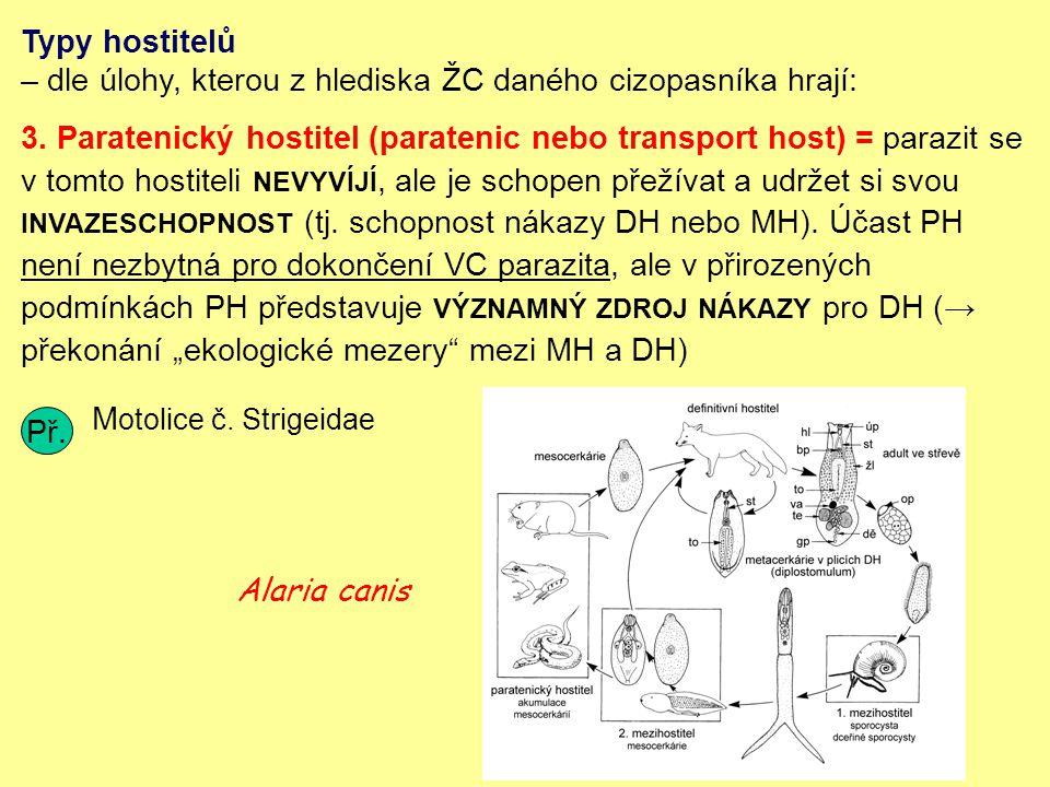 Typy hostitelů – dle úlohy, kterou z hlediska ŽC daného cizopasníka hrají: 3.