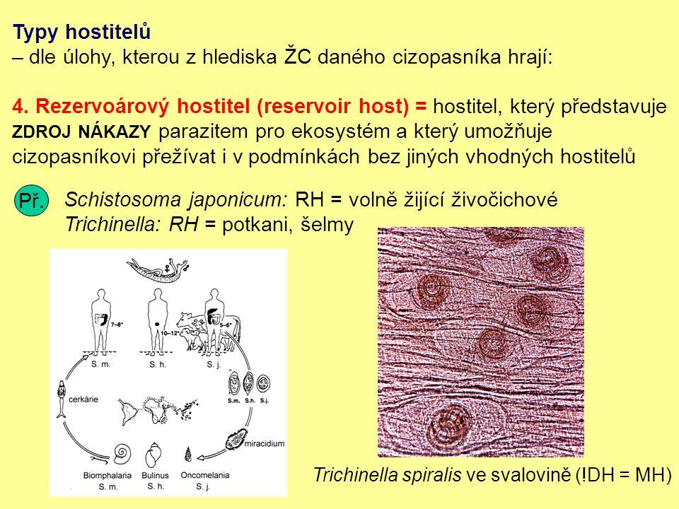 Typy hostitelů – dle úlohy, kterou z hlediska ŽC daného cizopasníka hrají: 4.