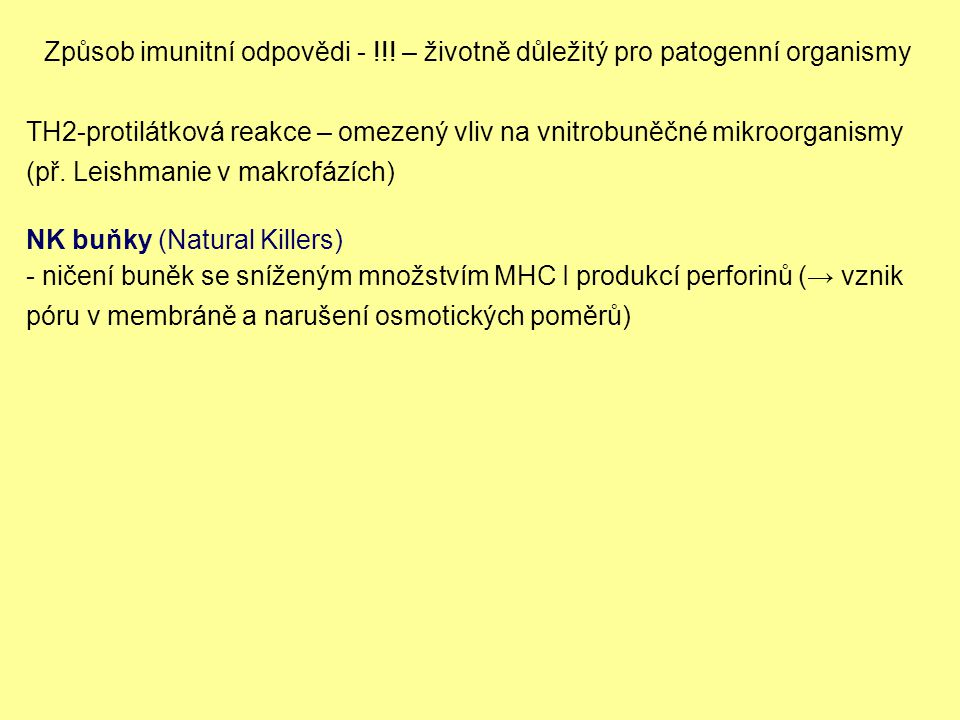 Způsob imunitní odpovědi - !!.