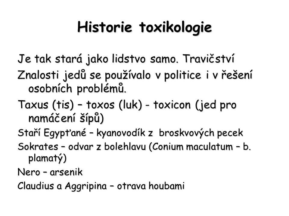 Historie toxikologie Je tak stará jako lidstvo samo.