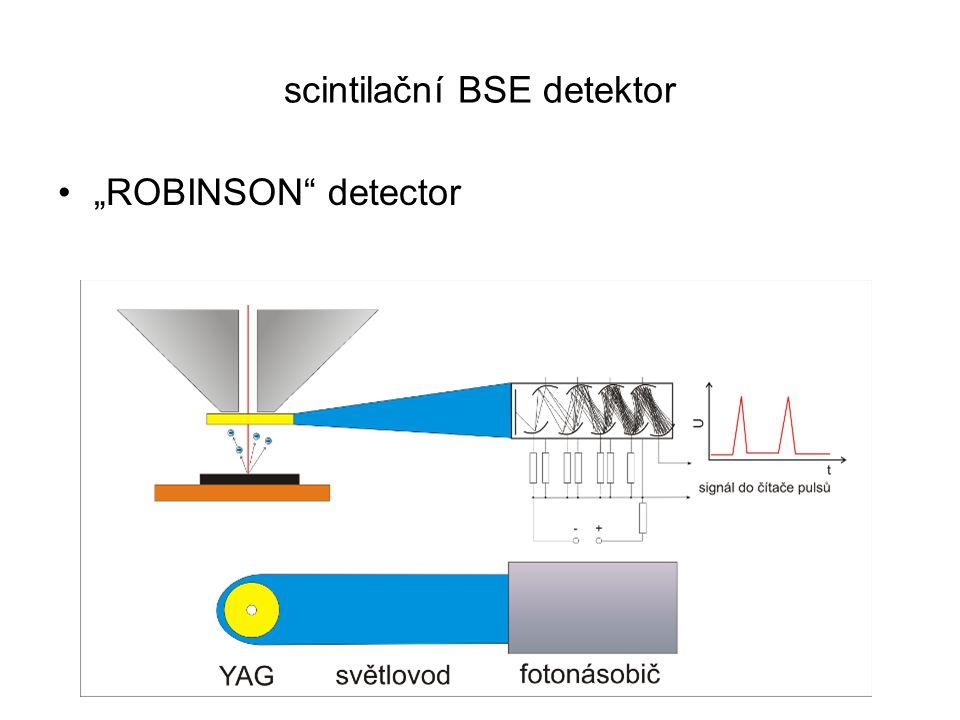 """scintilační BSE detektor """"ROBINSON"""" detector"""