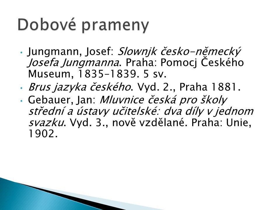 Jungmann, Josef: Slownjk česko-německý Josefa Jungmanna.