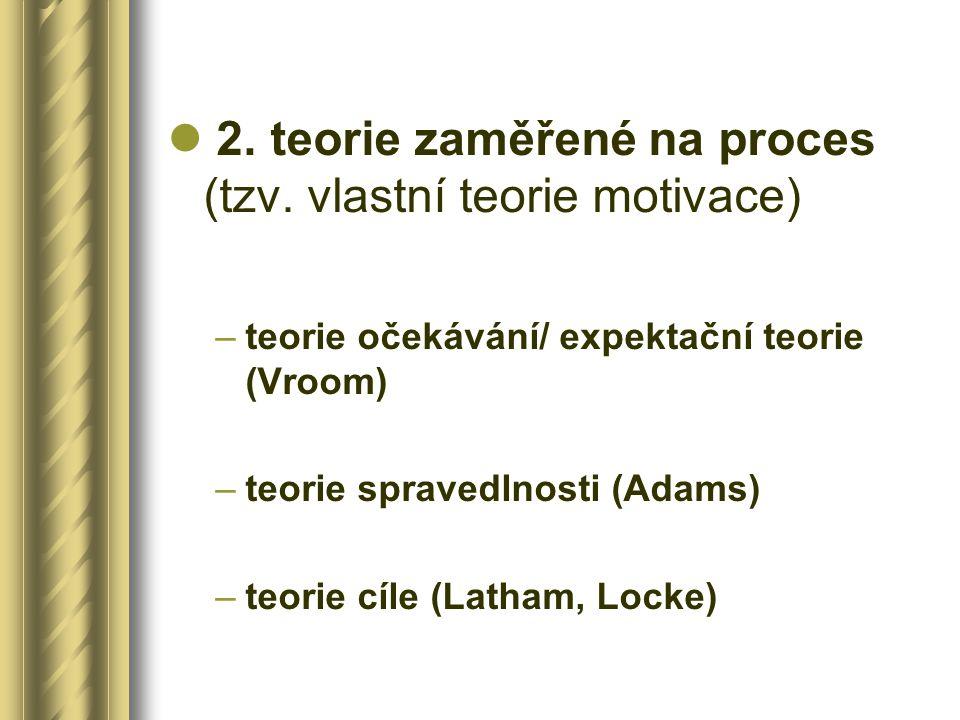 2.teorie zaměřené na proces (tzv.