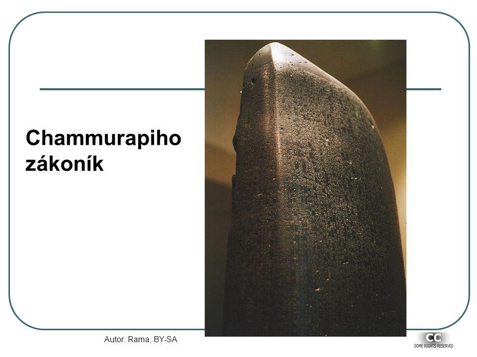 Chammurapiho zákoník Autor: Rama, BY-SA
