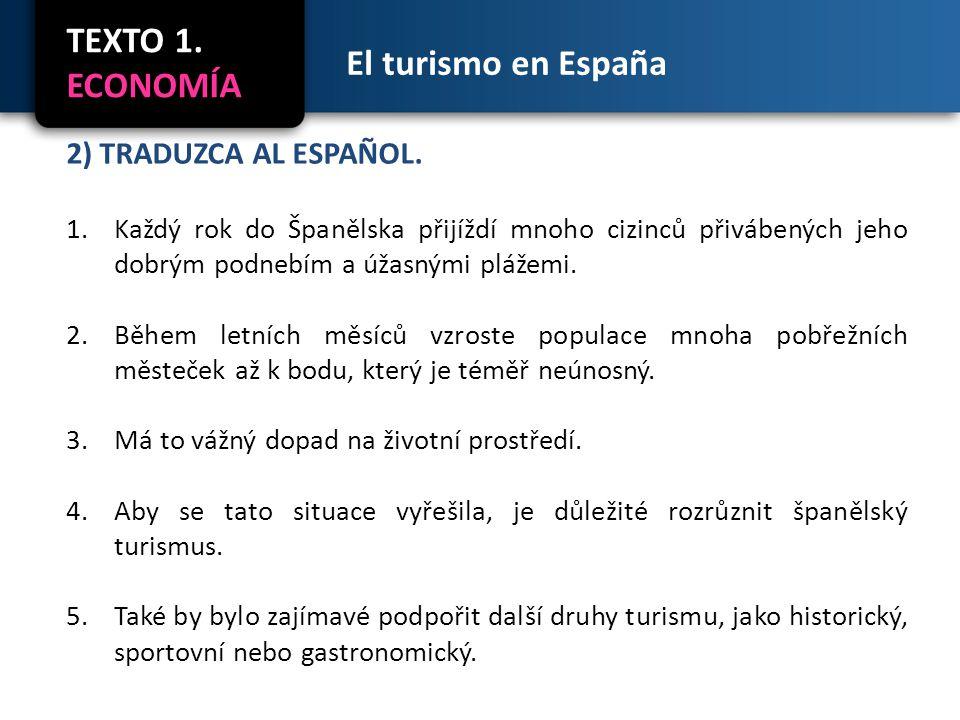 El turismo en España 3) PRESENTE DE INDICATIVO.FORMAS REGULARES.