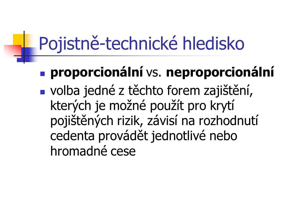 Pojistně-technické hledisko proporcionální vs.