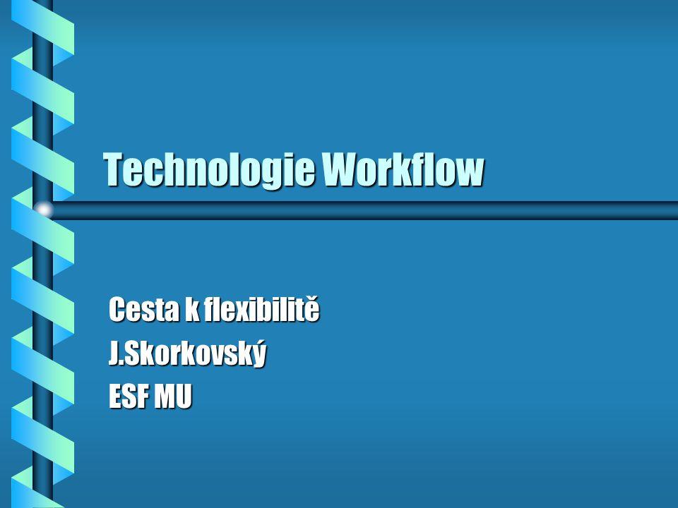 Technologie Workflow Cesta k flexibilitě J.Skorkovský ESF MU