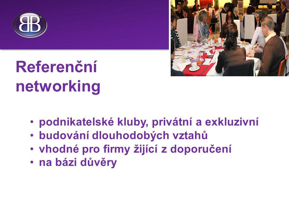 Referenční networking podnikatelské kluby, privátní a exkluzivní budování dlouhodobých vztahů vhodné pro firmy žijící z doporučení na bázi důvěry