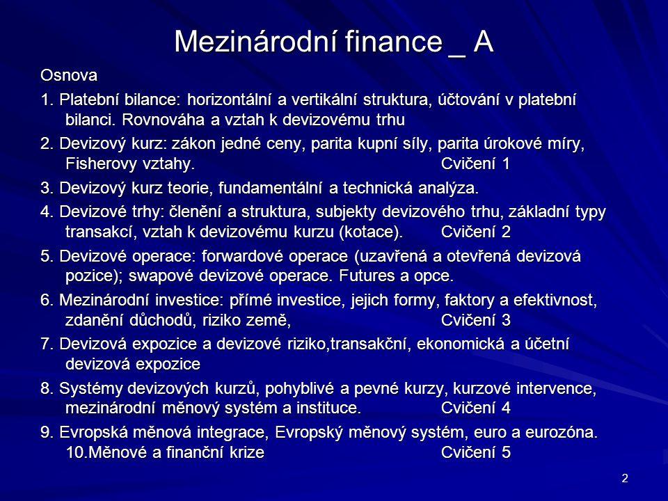 Mezinárodní finance _ A Osnova 1.
