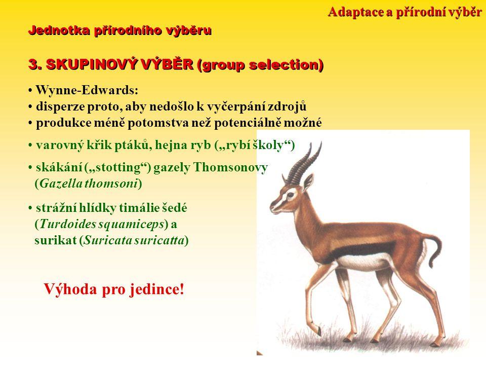 Adaptace a přírodní výběr Jednotka přírodního výběru 3.