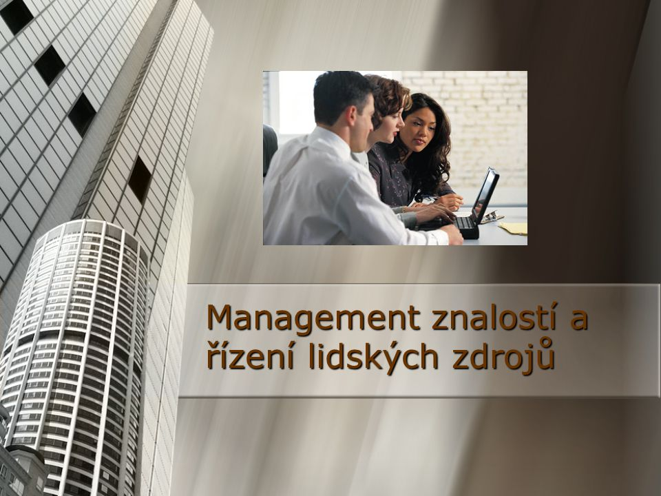Evropský přístup Firmy se zpravidla snaží uzpůsobit znalostní management svým specifickým potřebám.