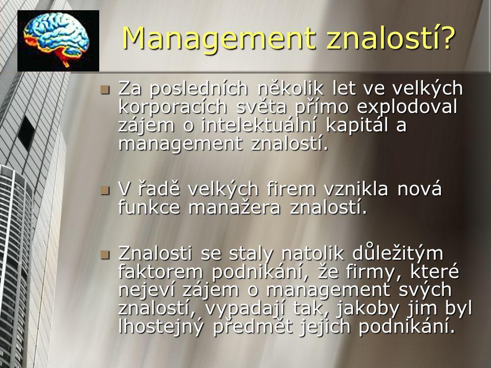 Management znalostí.