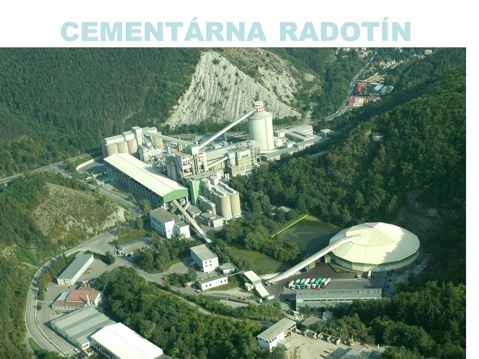 Cementová mlýnice Strojní zařízení: –2 x cementový mlýn KHD –2 x třídič 3.