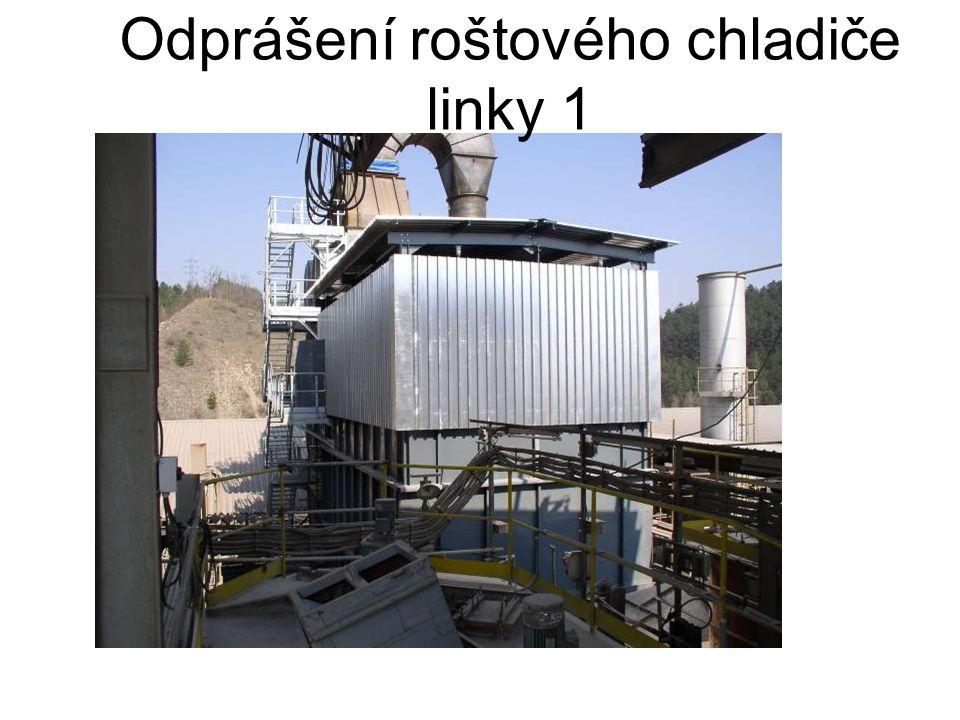 Odprášení roštového chladiče linky 1