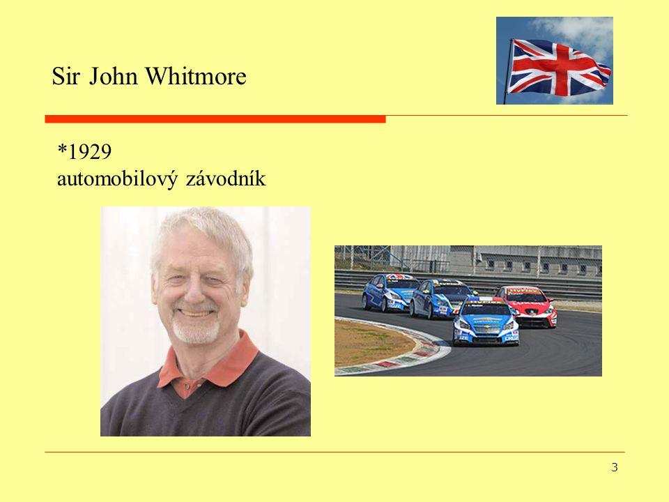 3 Sir John Whitmore *1929 automobilový závodník