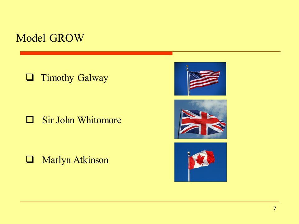 7 Model GROW  Timothy Galway  Sir John Whitomore  Marlyn Atkinson