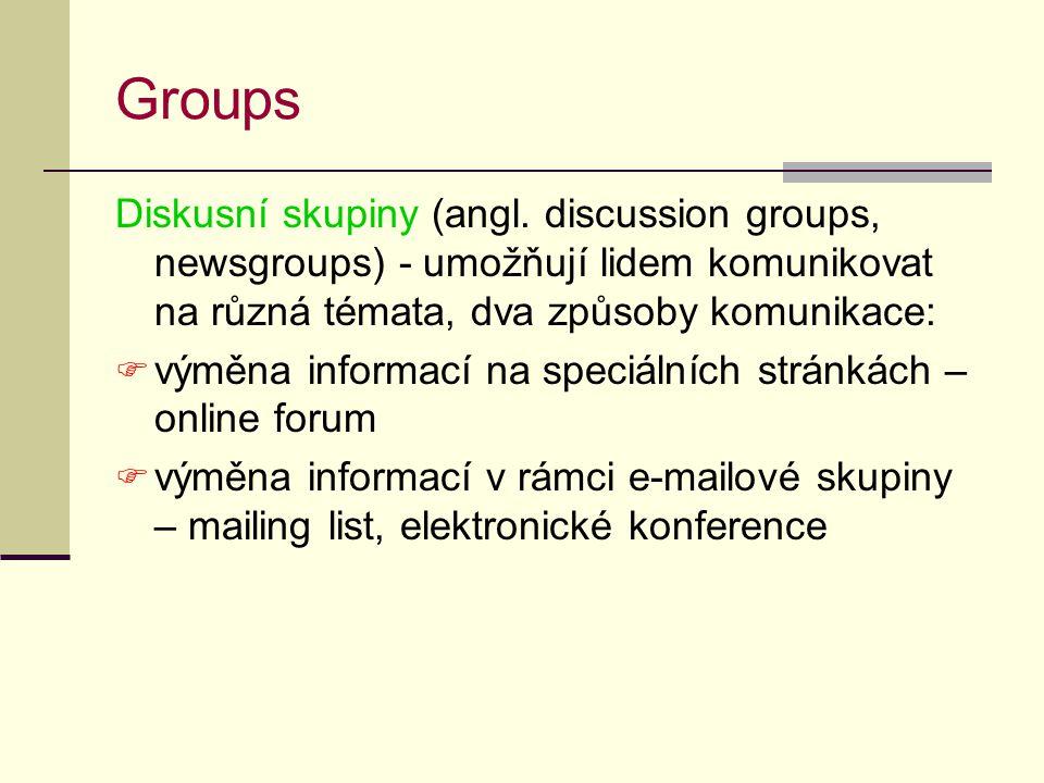 Groups Diskusní skupiny (angl.