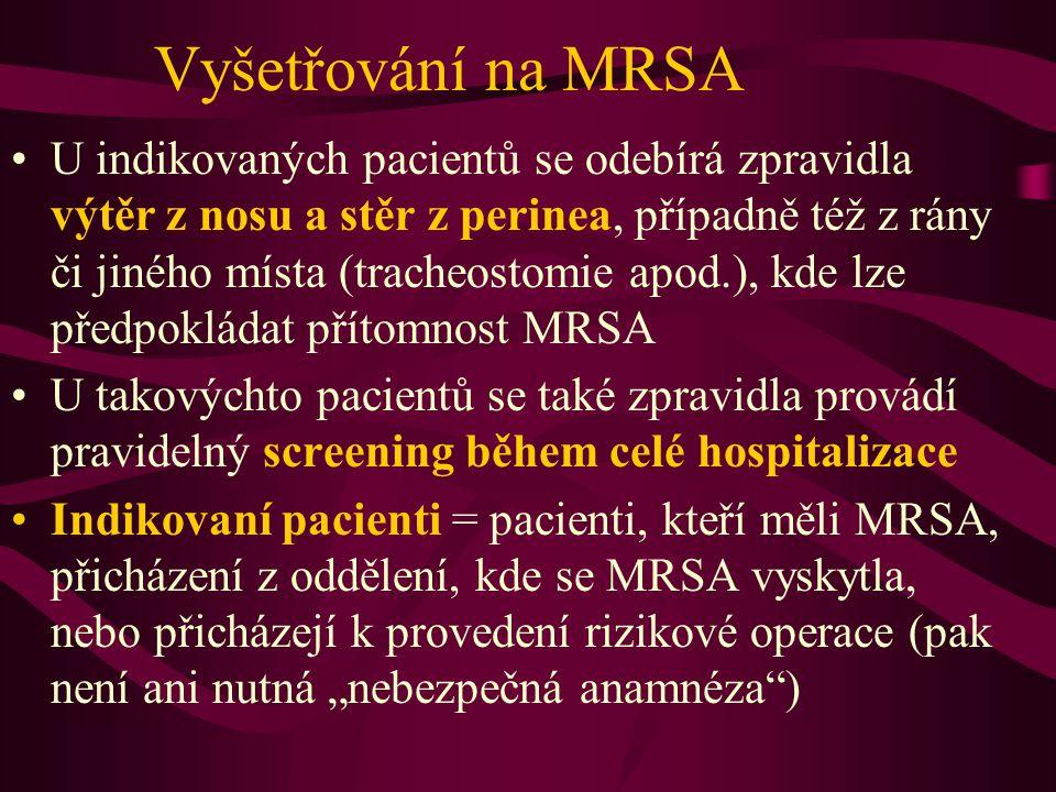"""Management nemocnice a MRSA V rámci nemocnice musí být vytvořen systém, který dopředu určuje postupy ve všech situacích souvisejících s možným výskytem MRSA Zpravidla existují dva týmy –koncepční tým (který zahrnuje ředitelství nemocnice, vedení oddělení či klinik apod.): určují dlouhodobé trendy a směřování opatření sloužících k potlačení MRSA a nozokomiálních infekcí vůbec –výkonný tým (epidemiolog, mikrobiologové, """"styční důstojníci klinik) – řeší konkrétní aktuální případy"""