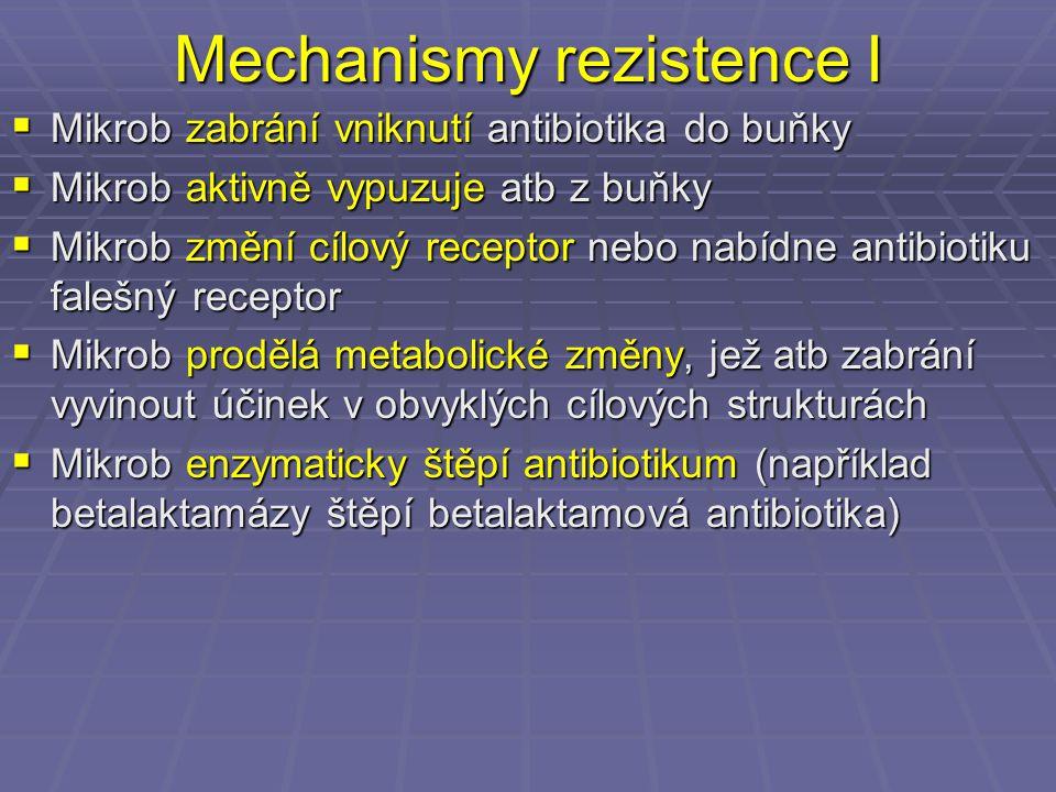 Aktuální situace v Brně  Vyskytují se sporadické případy MRSA ve všech nemocnicích, občas se vyskytne kmen MRSA i u ambulantního pacienta  Naštěstí zpravidla nedochází k významnějším epidemickým výskytům, zejména díky obecnému povědomí o nutnosti dodržovat pravidla pro ošetřování pacientů s MRSA  Některé kmeny jsou dobře citlivé na jiná antibiotika, pouze část kmenů je polyrezistentních