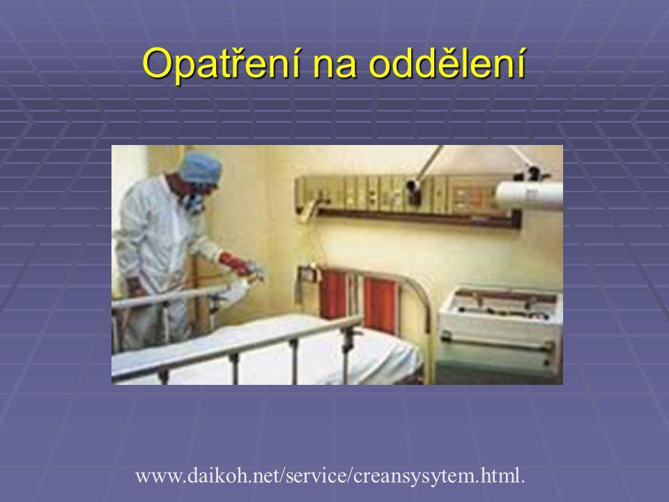 Opatření na oddělení www.daikoh.net/service/creansysytem.html.