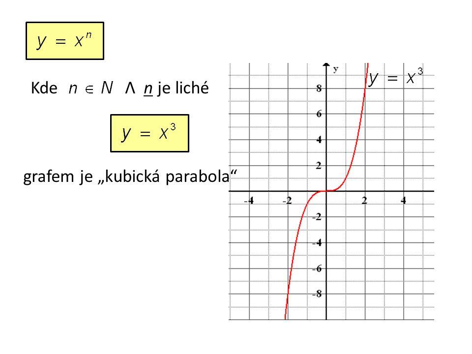 """KdeΛ n je liché grafem je """"kubická parabola"""
