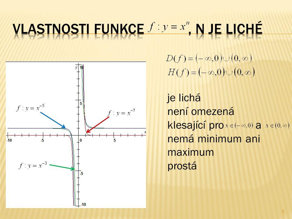  Sestrojte grafy funkcí a určete vlastnosti: 6