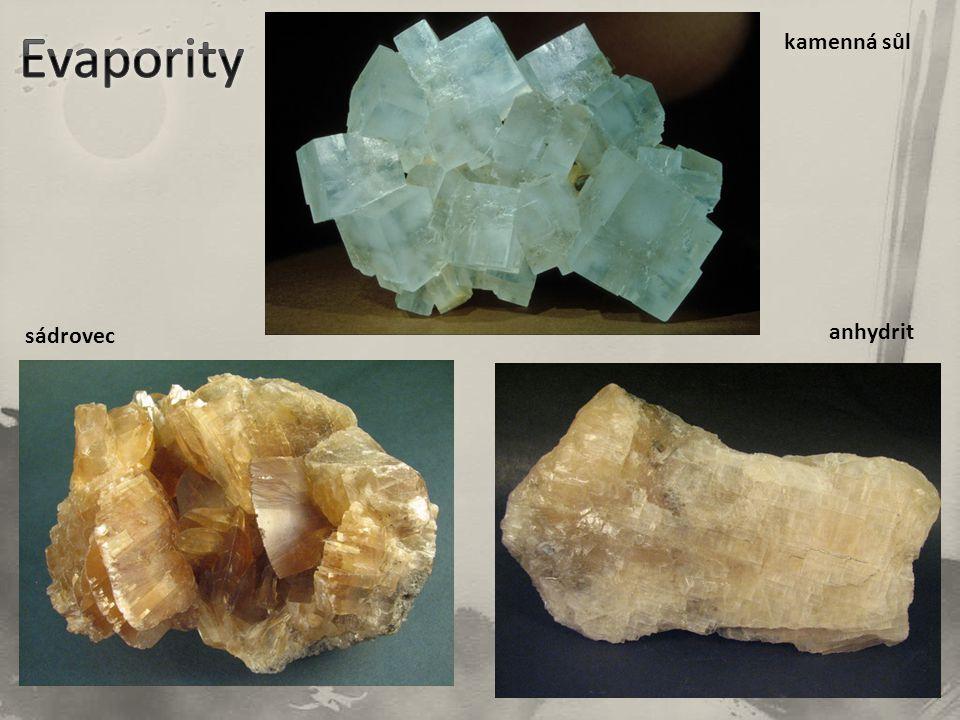 kamenná sůl sádrovec anhydrit