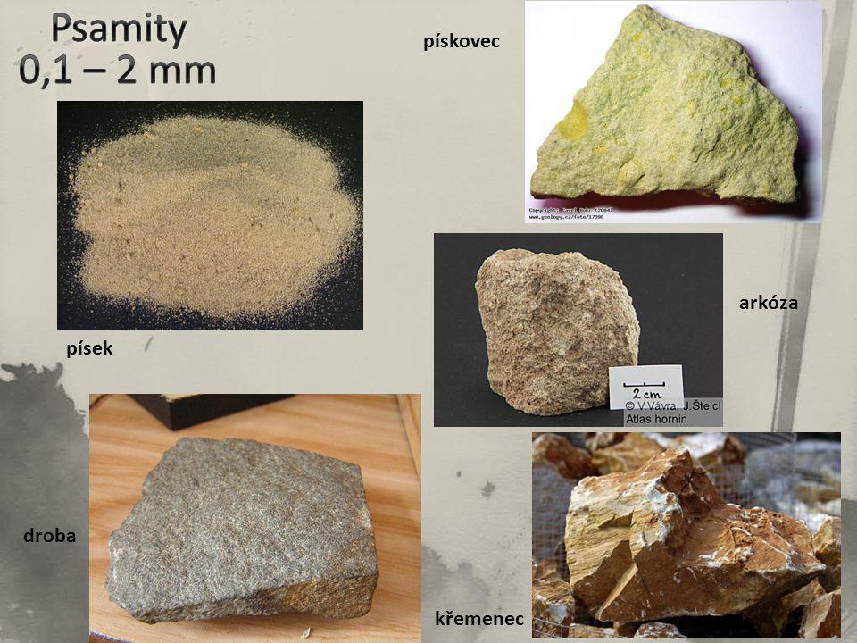 písek pískovec arkóza droba křemenec