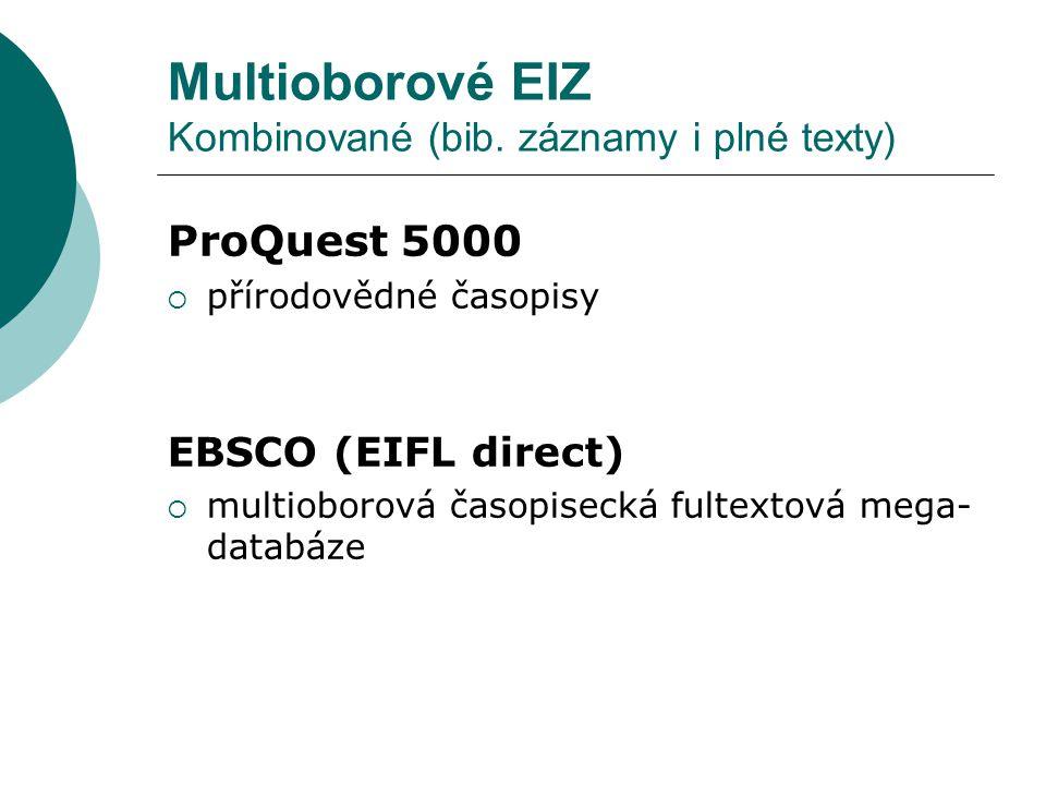 Multioborové EIZ Kombinované (bib.