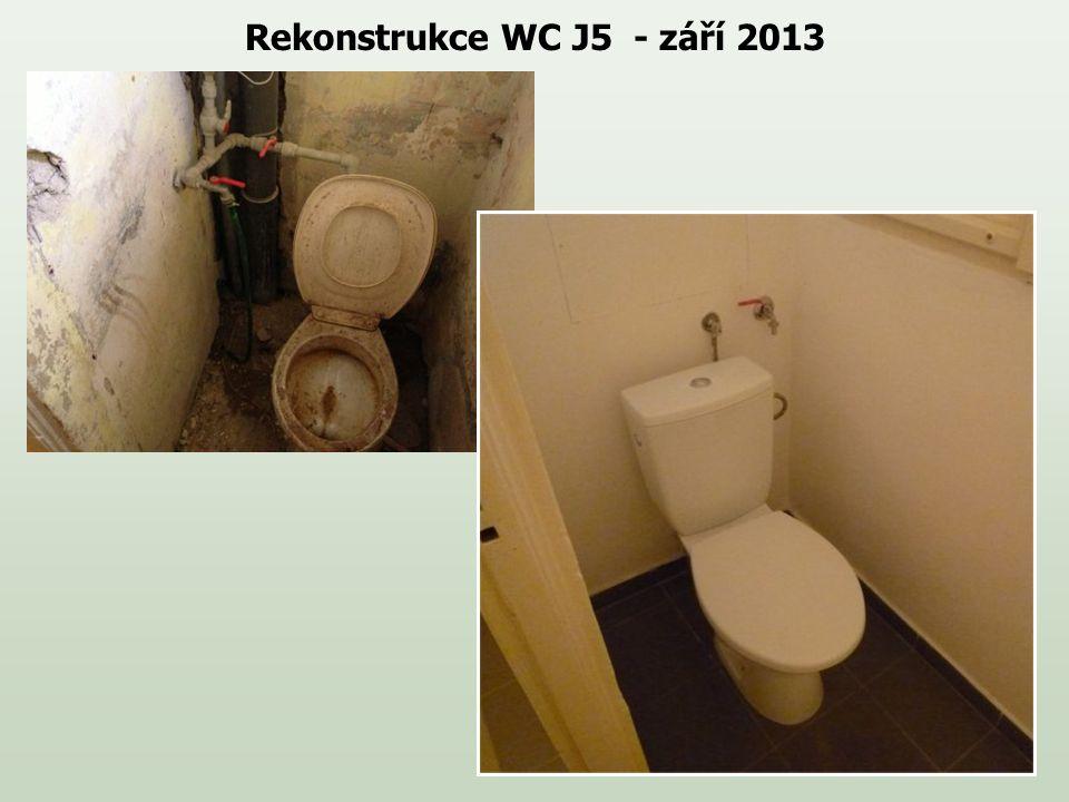 Rekonstrukce WC J5 - září 2013