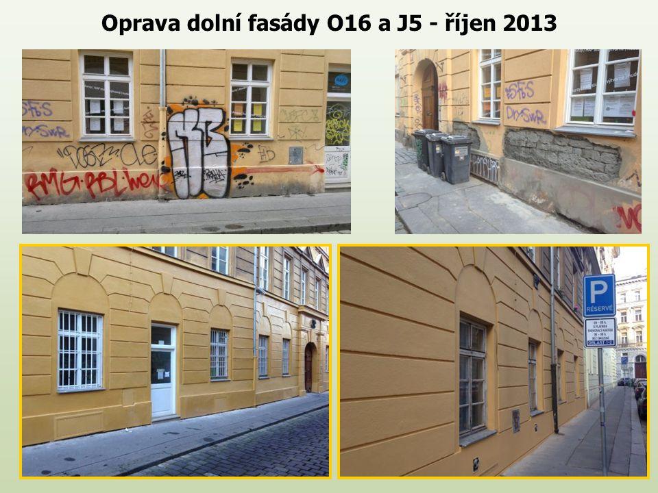Oprava dolní fasády O16 a J5 - říjen 2013