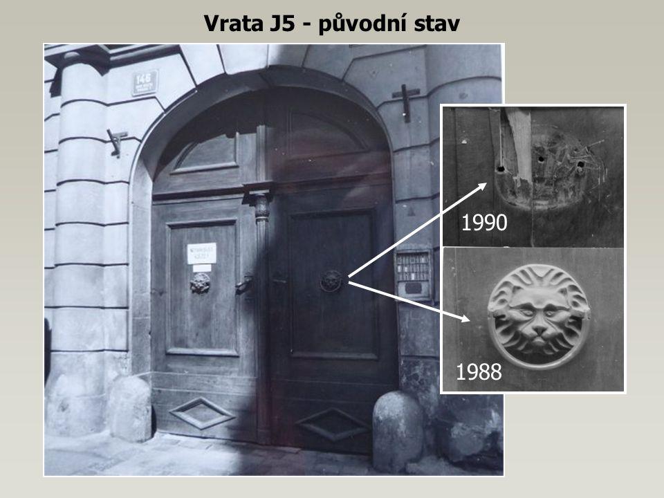 Vrata J5 - původní stav 1988 1990