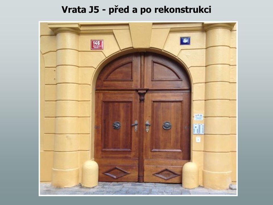 Vrata J5 - před a po rekonstrukci
