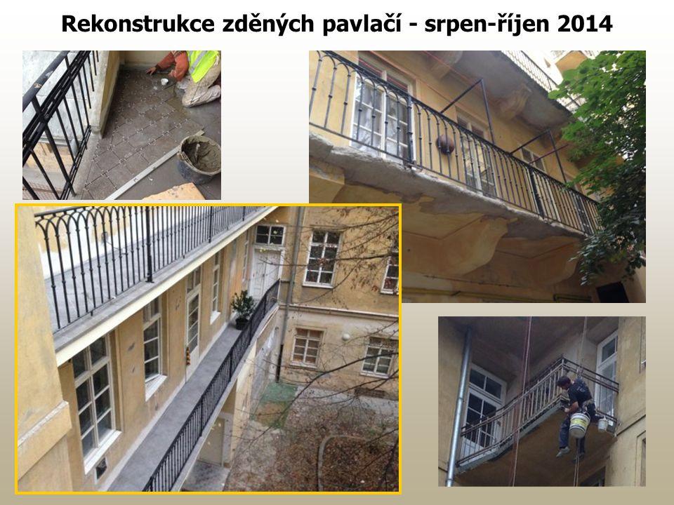Rekonstrukce zděných pavlačí - srpen-říjen 2014