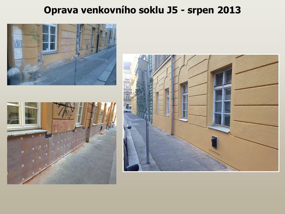 Oprava venkovního soklu J5 - srpen 2013