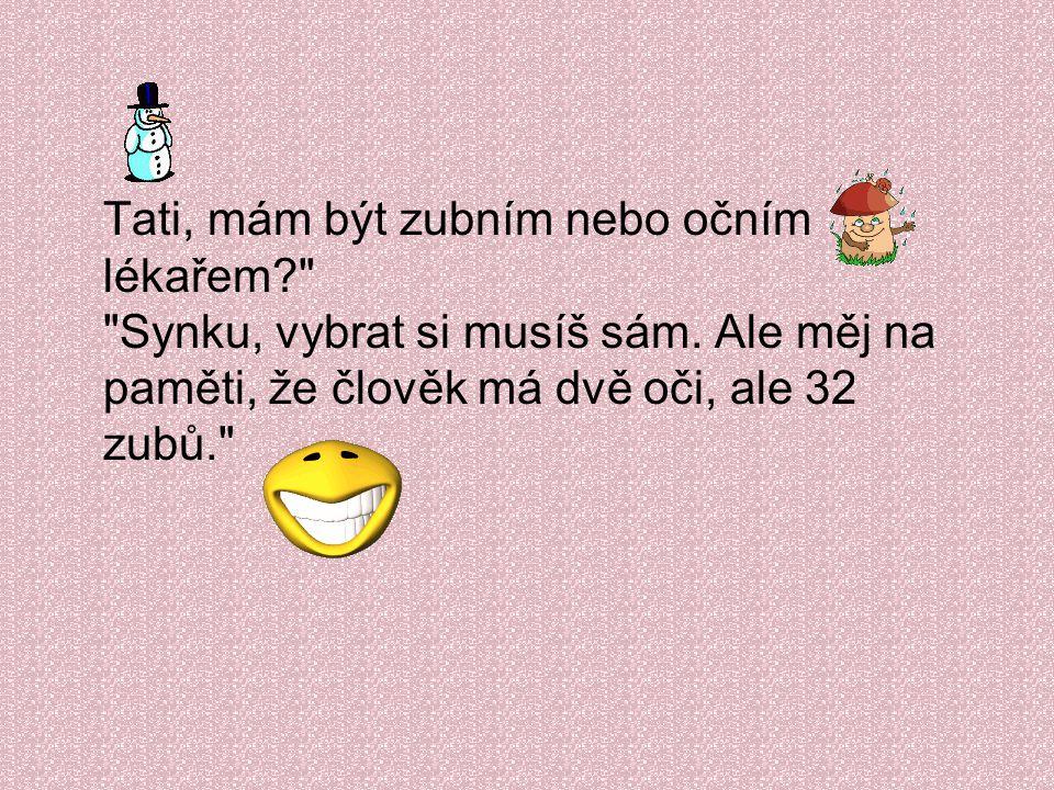 Anička donesla ze školy poznámku: