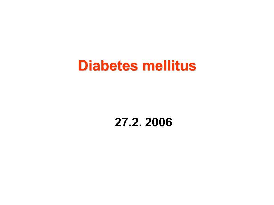 Diabetes typu II  Porucha funkce  -buněk pankreatu Změny sekrece inzulinu:  Ztráta první fáze sekrece- opožděná sekrece inzulinu  Snížená produkce s progresivní ztrátou funkce inzulinu  Neadekvátní odpověď na inzulin