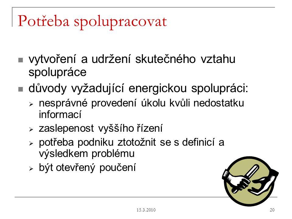 15.3.2010 21 Zdroj: Zpracováno dle studie společnosti Capgemini Czech Republic.