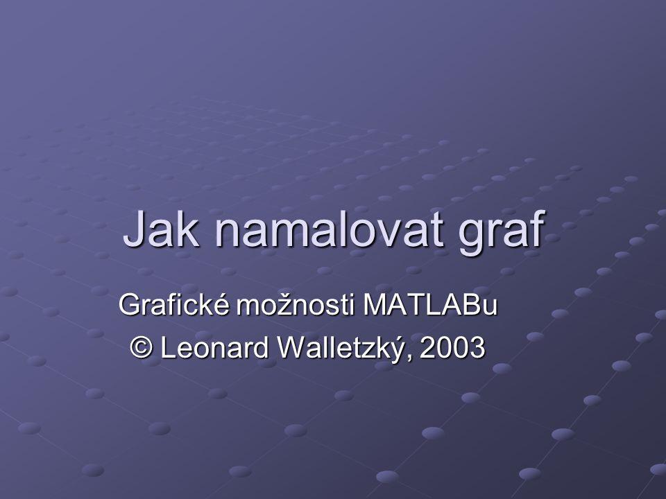 Jak namalovat graf Grafické možnosti MATLABu © Leonard Walletzký, 2003
