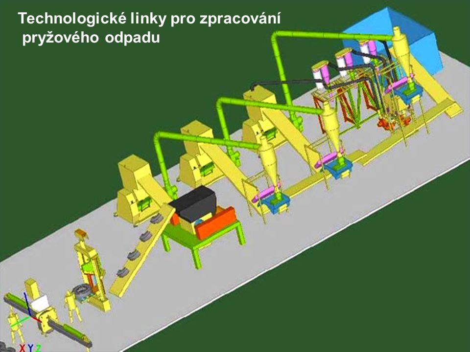 Technologické linky pro zpracování pryžového odpadu