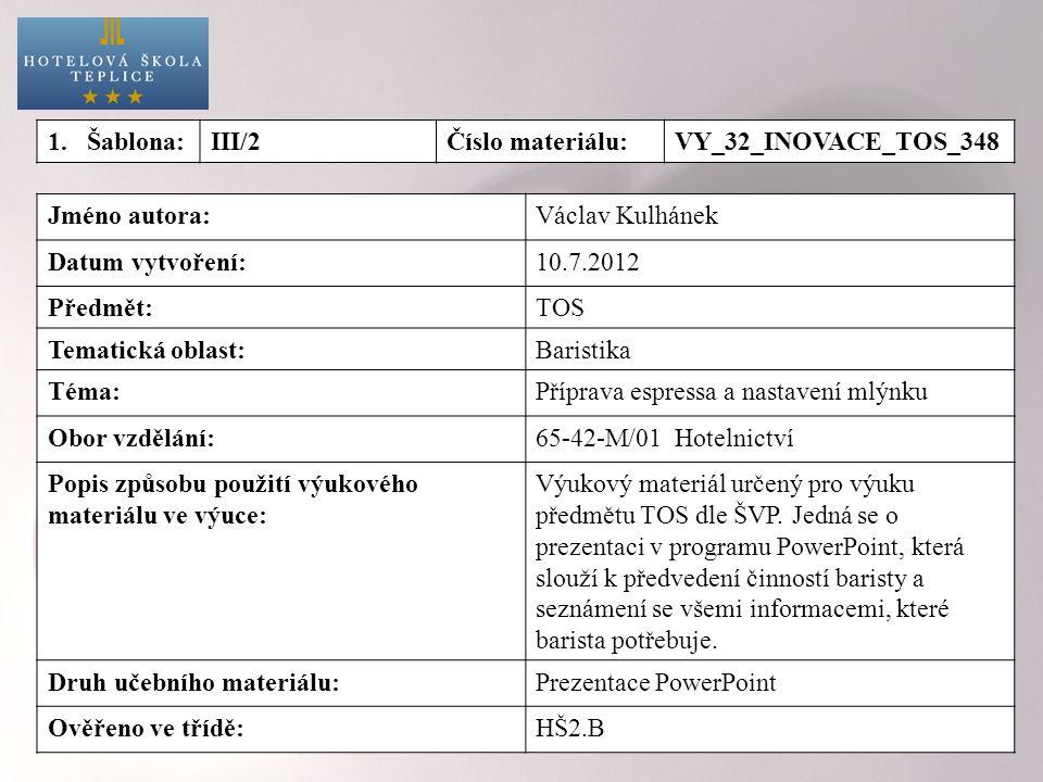 Příprava espressa Pravidlo 4M podle baristy Michala Křižka 1.