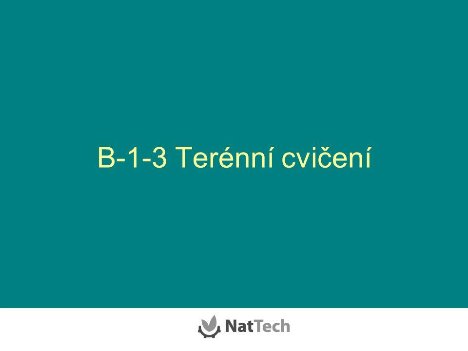 B-1-3 Terénní cvičení