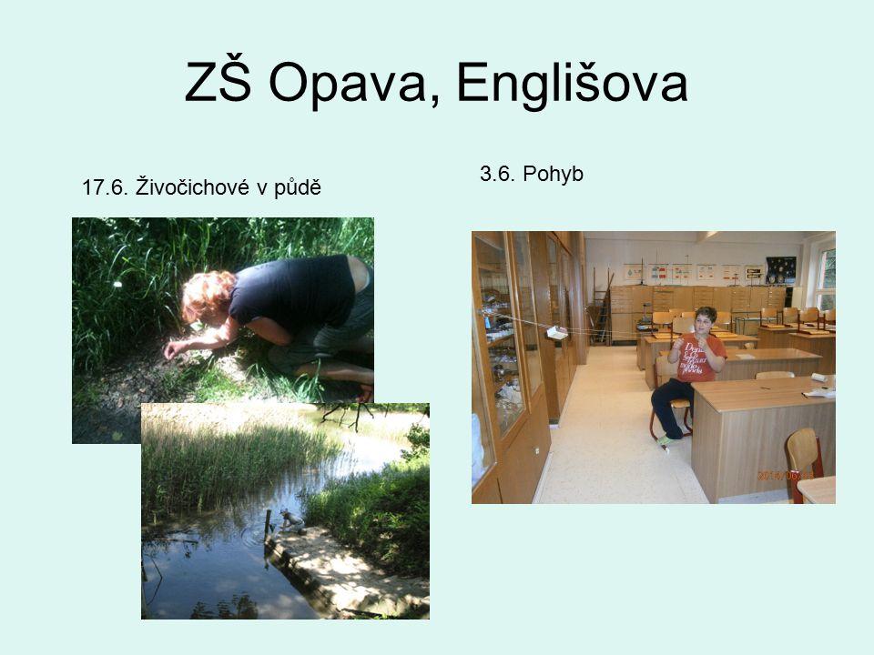 ZŠ Opava, Englišova 3.6. Pohyb 17.6. Živočichové v půdě